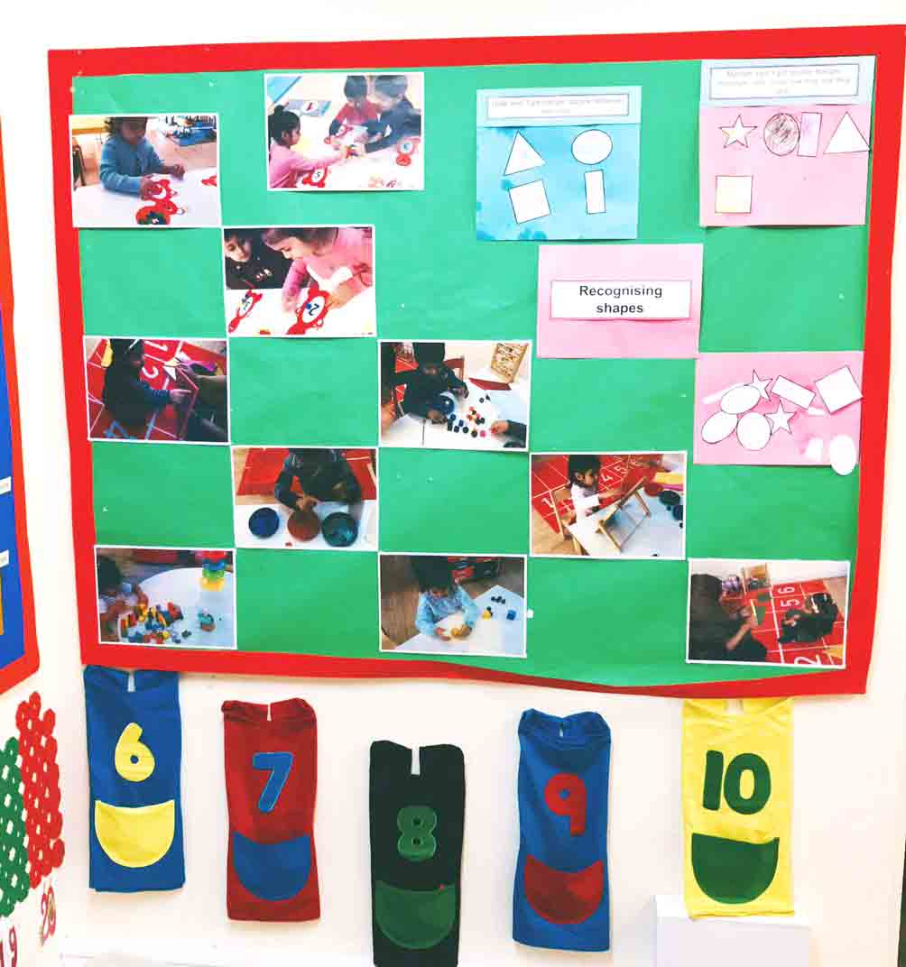 Sahan Nursery Display Board Maths Area 1