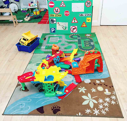 Car road signs in Sahan Nursery
