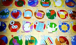 Alphabets learning sahan nursery