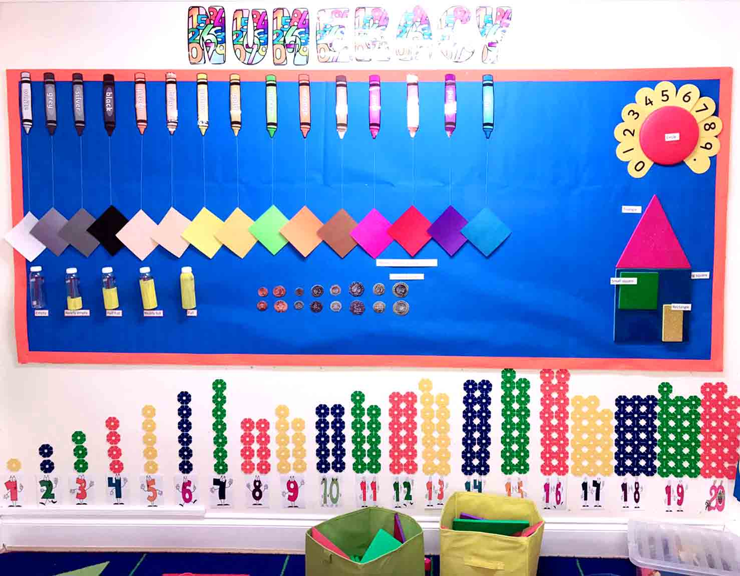 Sahan Nursery Display Board Maths Area 3