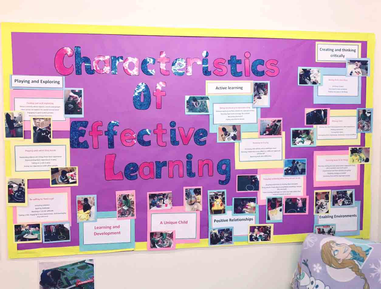 Sahan Nursery Display Board Characteristic of Effective Learning