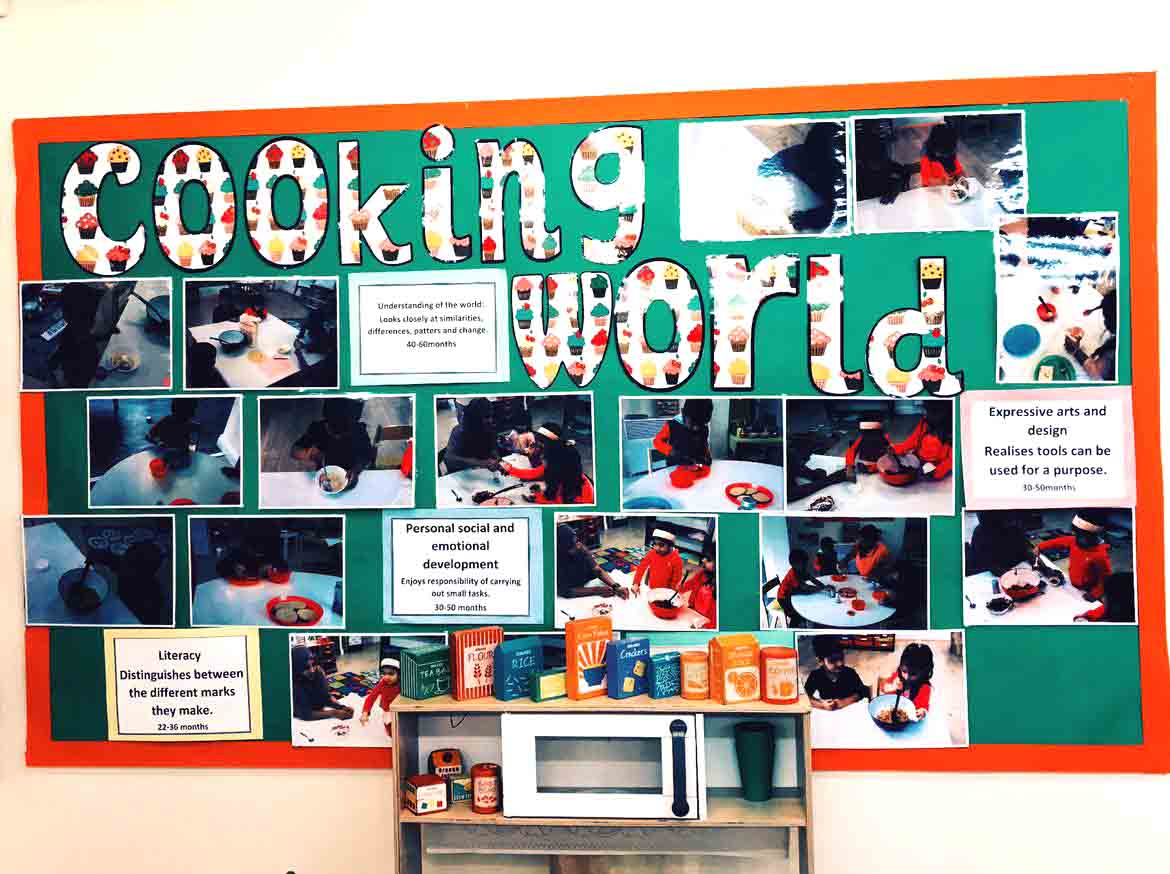 Sahan Nursery Display Board Cooking World