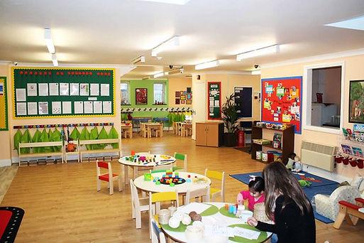 Open plan todler room and preschool room
