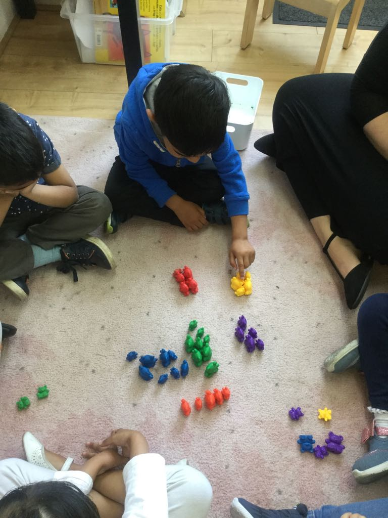 Counting Numbers Activity in Sahan Nursery