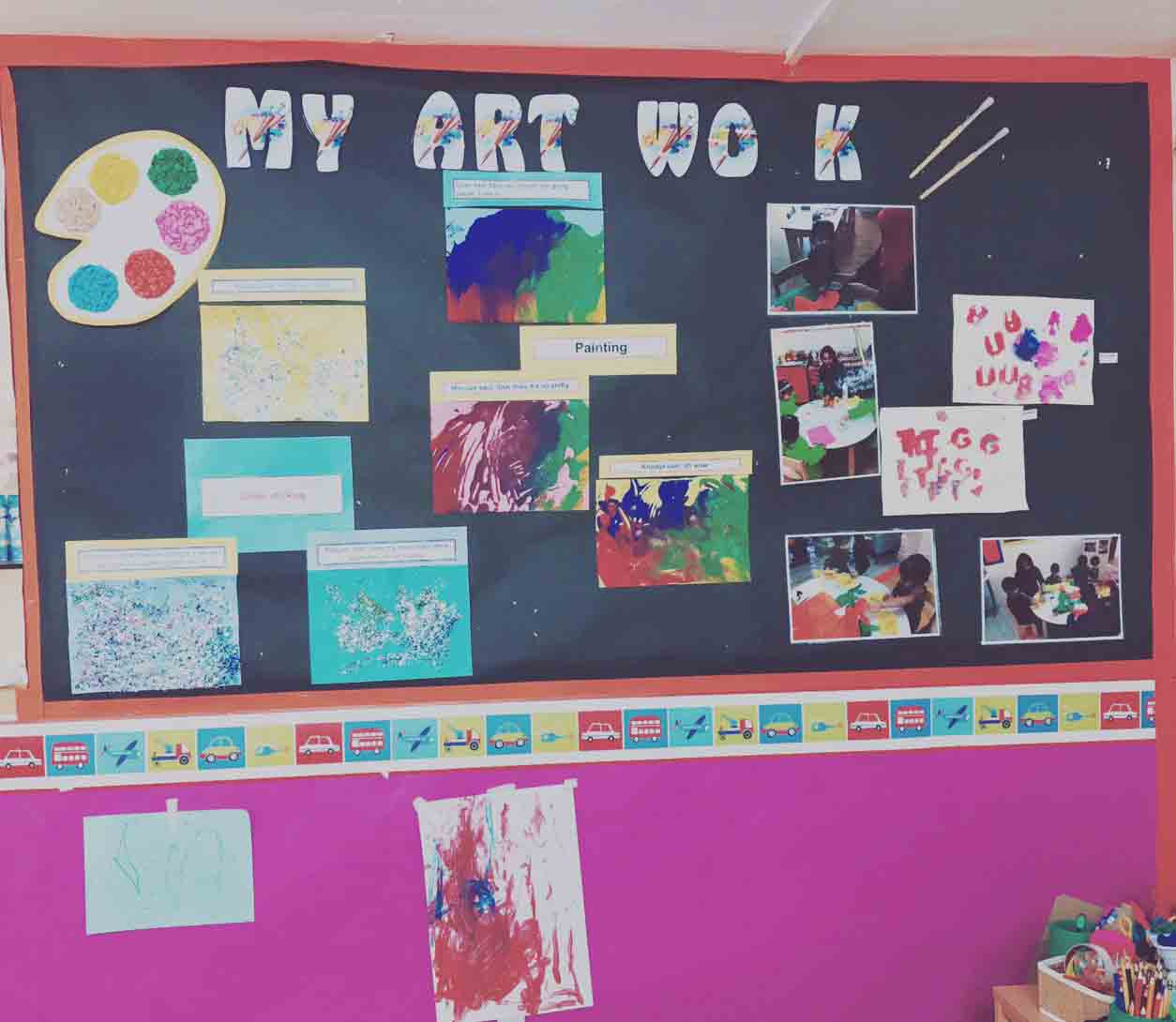 Sahan Nursery Display Board My Art Work