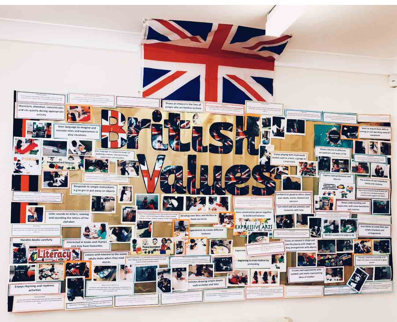 Sahan Nursery Display Board British Values