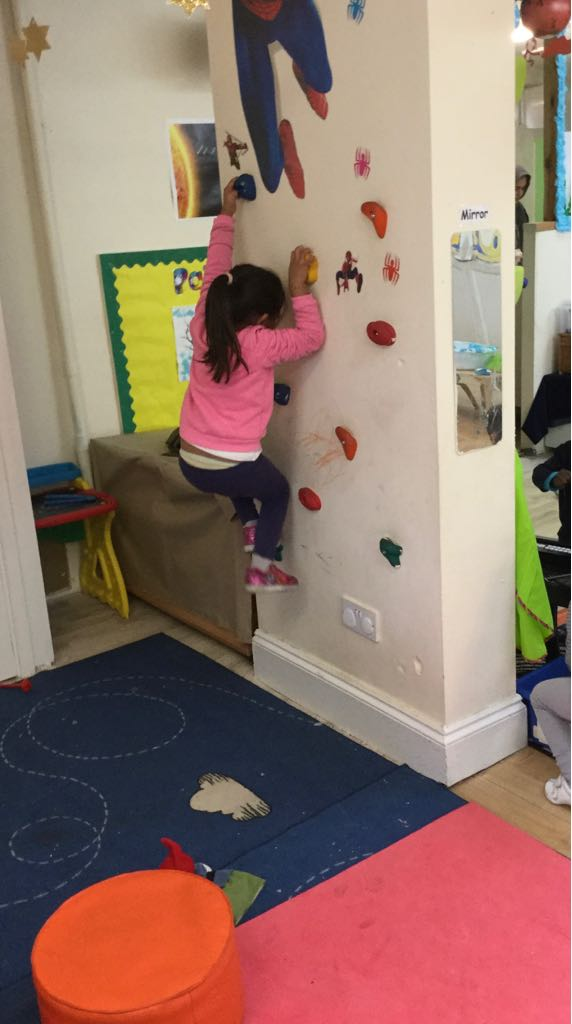 Climbing Activity in Sahan Nursery