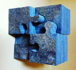 Stone puzzle pieces