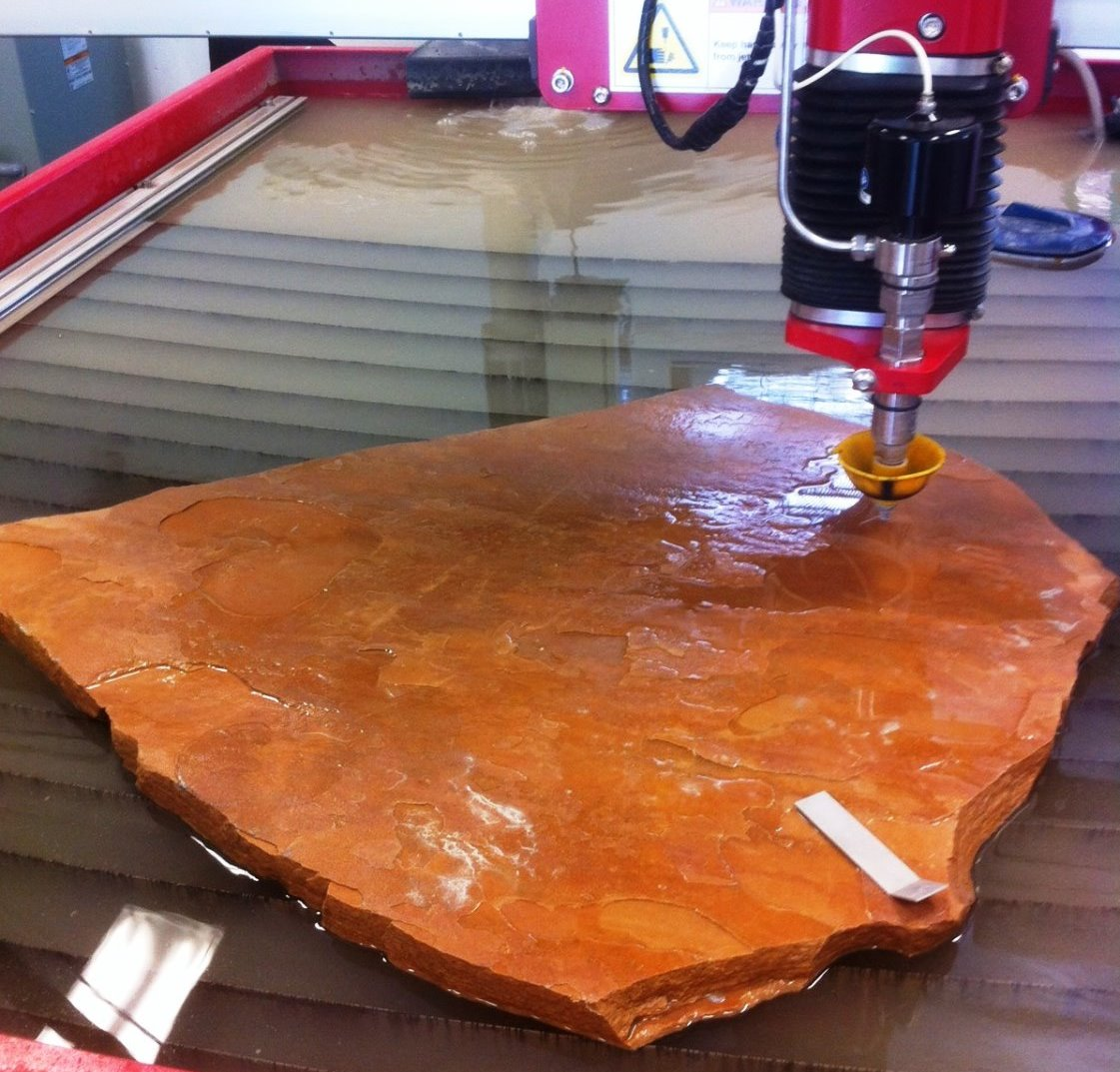 water jet cutting stone