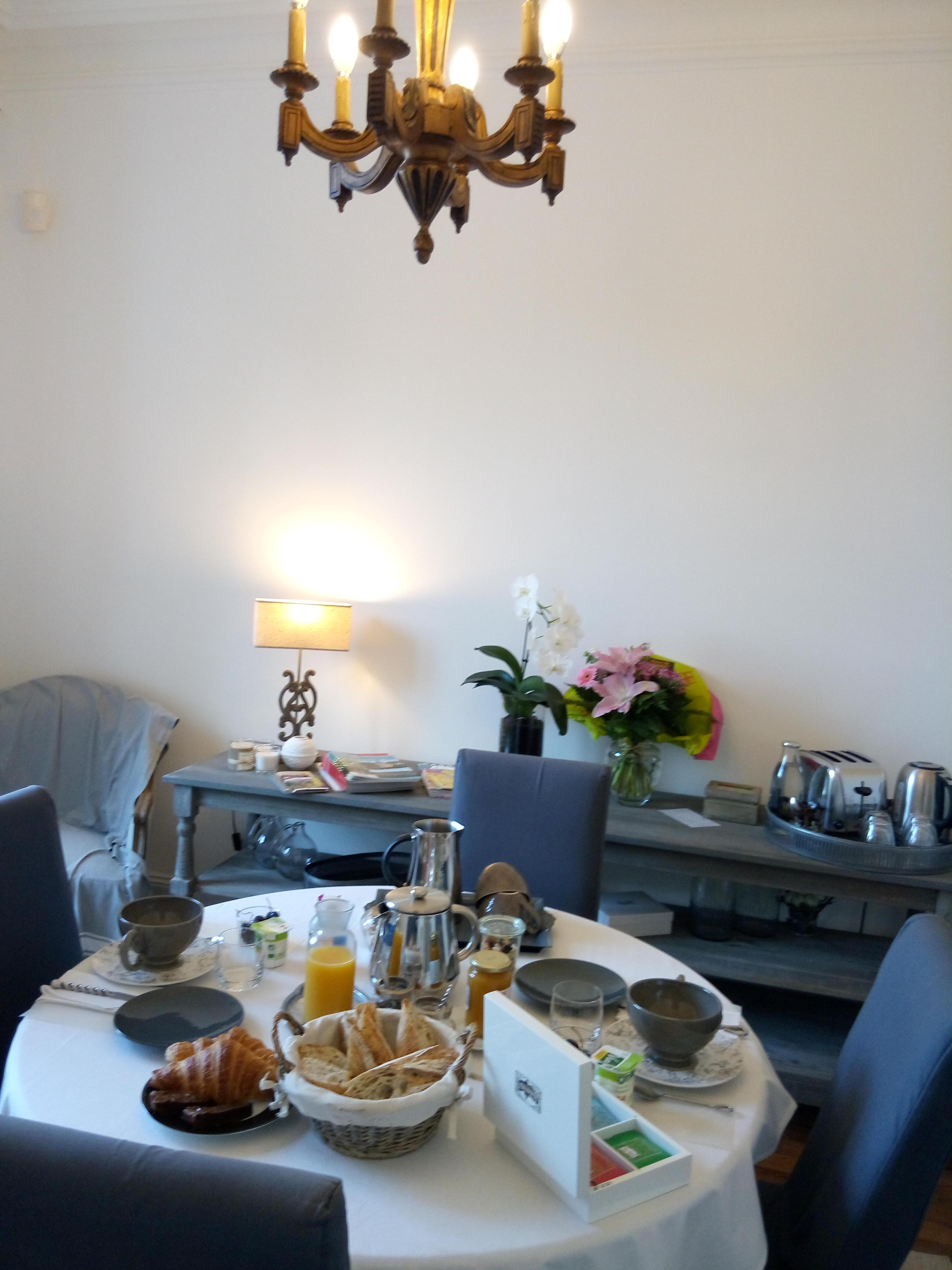 Salle pour les petits-déjeuners