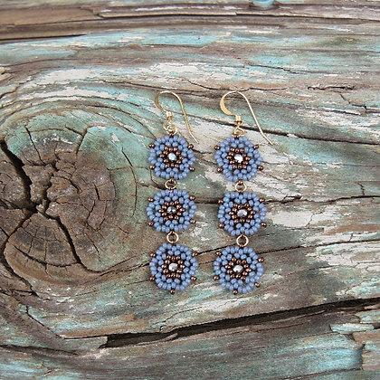 3 Flower Earrings