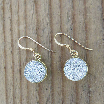 DOT DRUZY EARRINGS SILVER