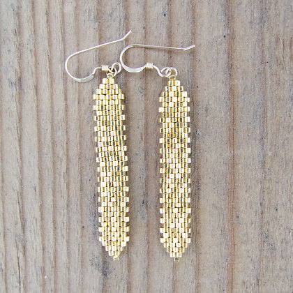 ARROW DROP EARRINGS GOLD