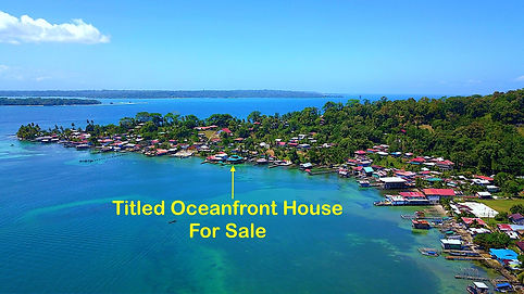 Titled Oceanfront Home in the Caribbean of Bocas del Toro, Panama