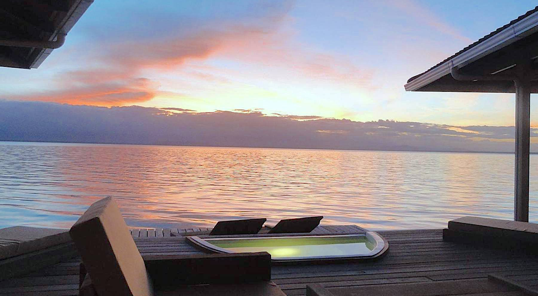 Luxury over-the-water bungalow in Bocas del Toro, Caribbean Sea