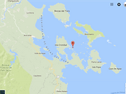 Location of Large 9 acres Island surrounded with coral reef, in Bocas del Toro