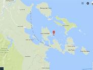 Localisation de Grande île de 9 acres entourée de récifs coralliens, à Bocas del Toro