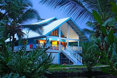 Beach House inCaribbean Sea of Bocas del toro, Panama