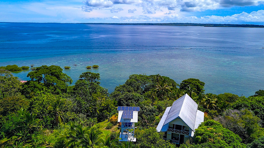 Titled OceanfrontHome on a Tropical Island in Panama