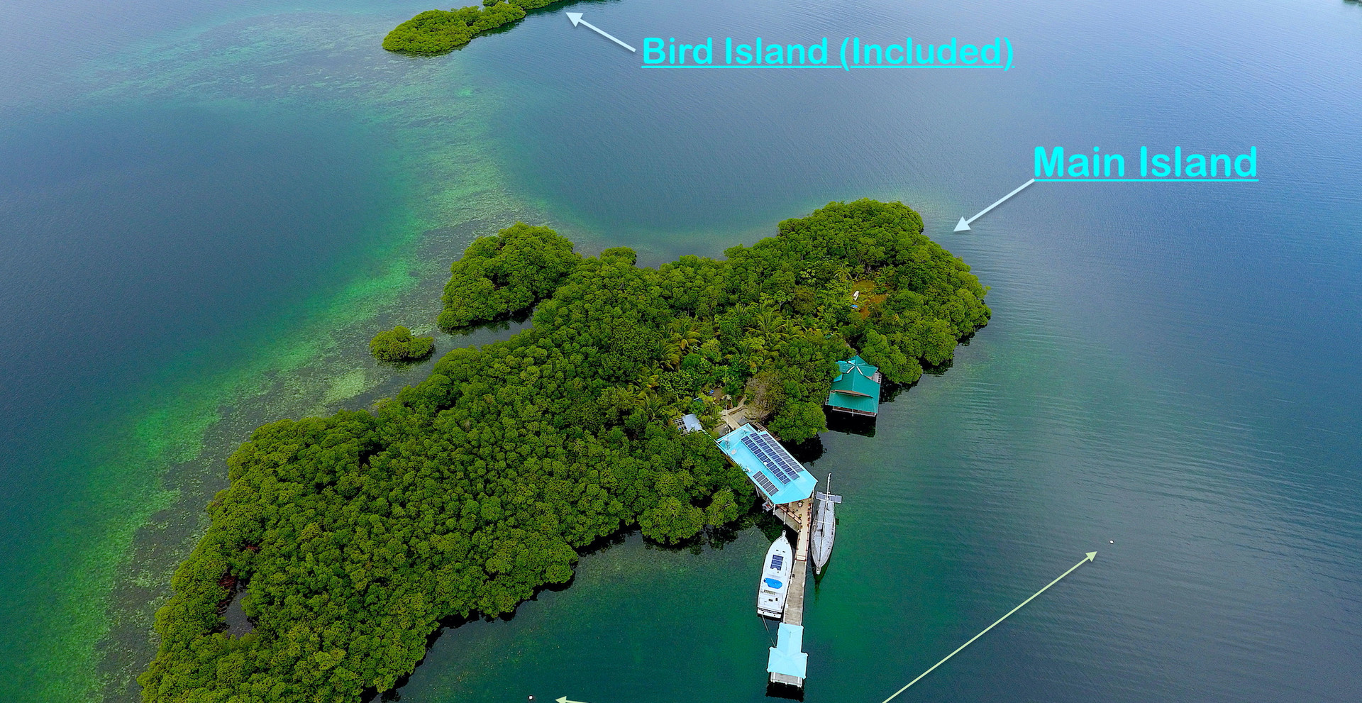 Tropical Island w/2 houses Move-in Ready In Bocas del Toro, Panama