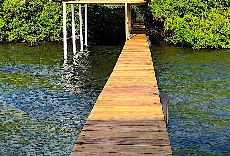 Luxury over-the-water bungalow in Bocas del Toro, Caribbean Sea