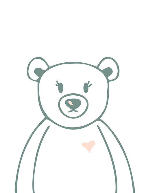 Baby Bear Digital Print