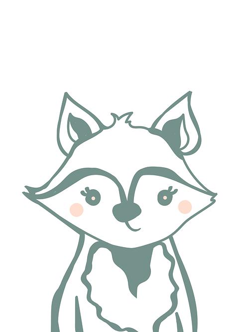 Baby Fox Digital Print