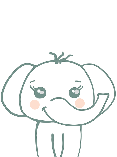Baby Elephant Digital Print