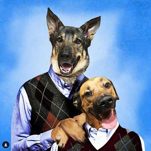 Step Brothers Pet Portrait
