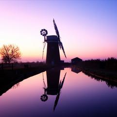 Sunrise at Horsey Mill