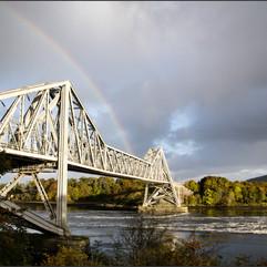 Scottish Bridge & rainbow