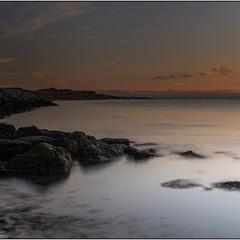 Reculver Coastline Kent At Sunset