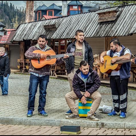 Busking in Zakopane