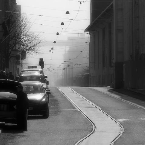 Morning mist, Helsinki