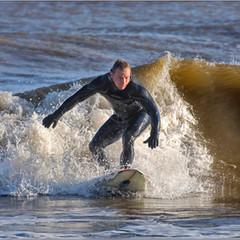 Surfing in Lowestoft