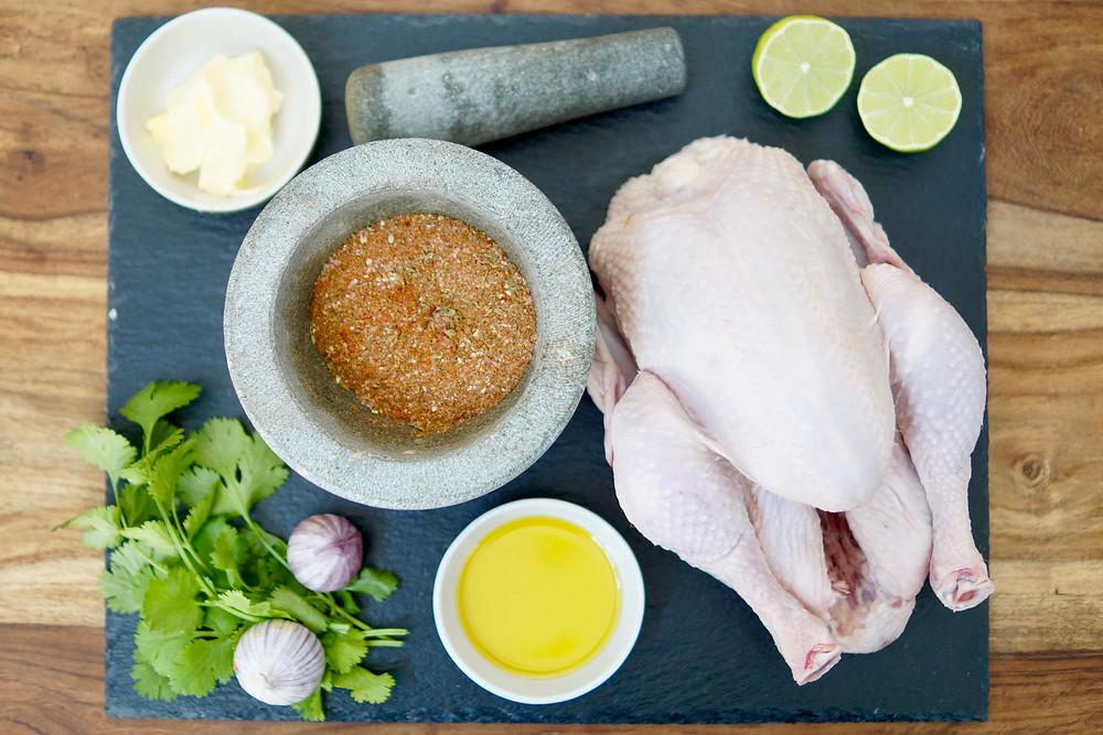Zutaten Roadkill Chicken Grillen Elektrogrill