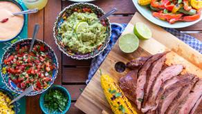 Mexikanischer Grillabend mit gefüllten Fajitas