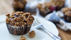 vegane Beeren-Muffins mit Streuseln