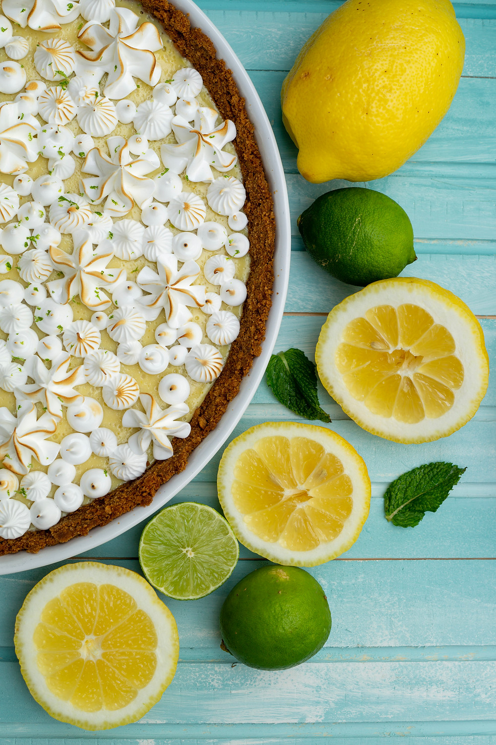 Key Lime Pie Limettenkuchen in Tarteform