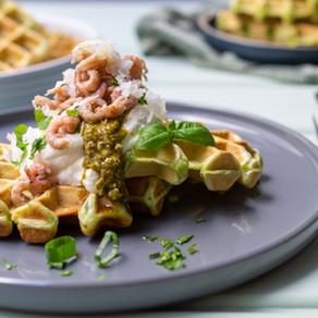 Food.Blog.Meet und Kräuterwaffeln mit Krabben