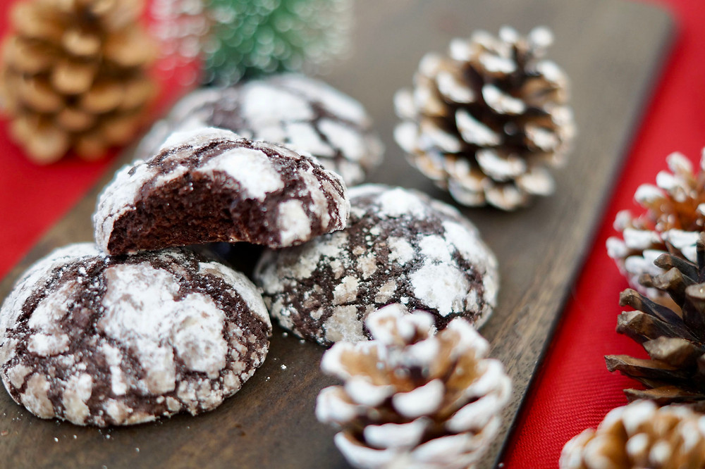 Snowcaps - leckere Schokoplätzchen für Weihnachten