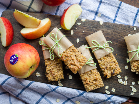 Zuckerfreie Apfel-Haferflocken-Riegel