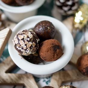 weihnachtliche Bliss Balls