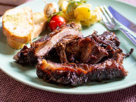 Beef Ribs mit Johannesbeermarinade