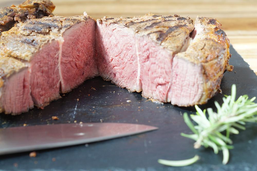 Prime Rib Roast Hohe Rippe Grill Elektrogrill Beef BBQ