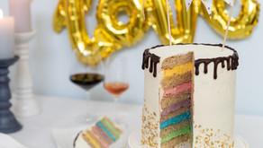 Regenbogen-(Hochzeits-)Torte - Ein Hoch auf die Liebe