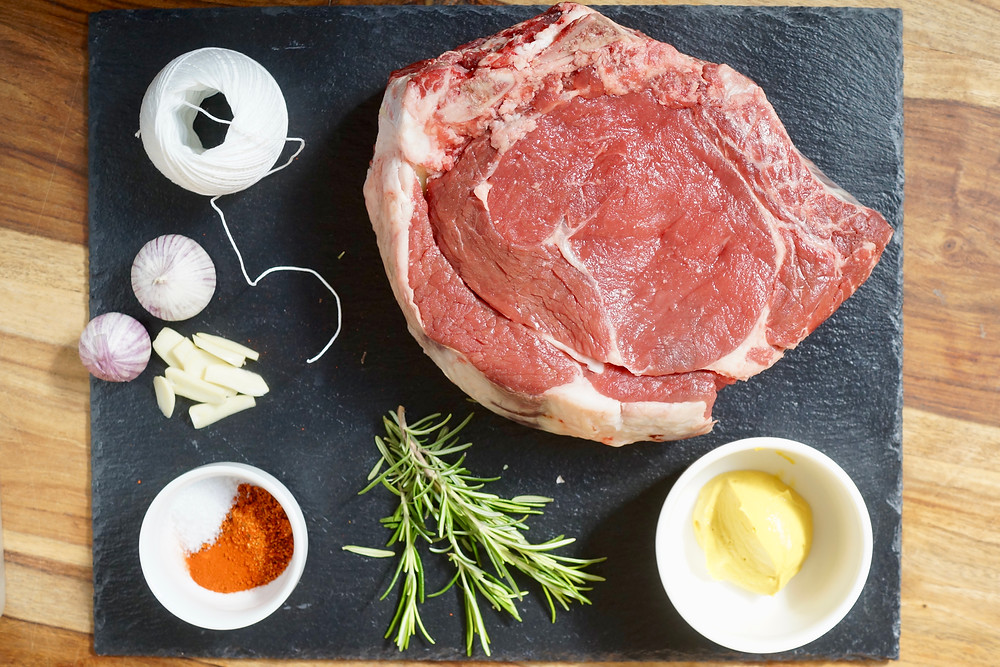 Zutaten Rind Beef Prime Rib Roast Hohe Rippe Grillen BBQ