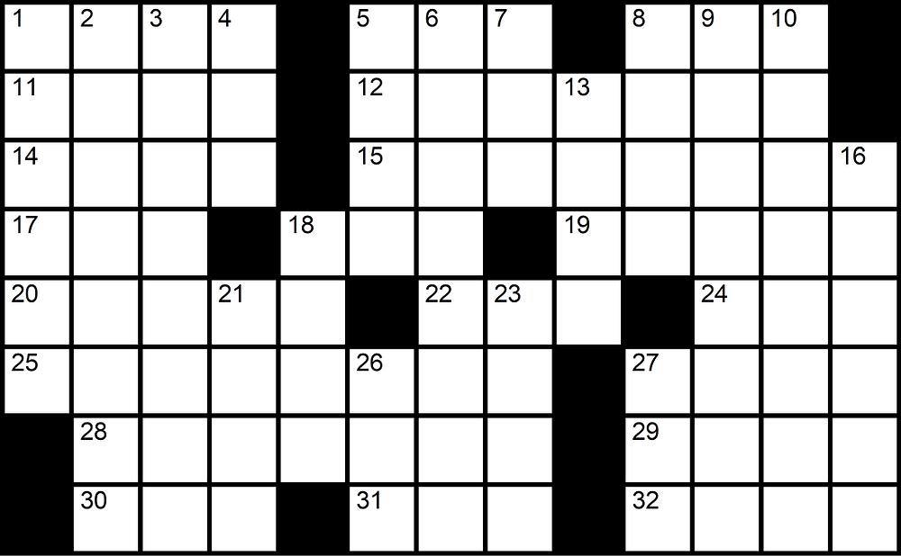 13x8 crossword puzzle