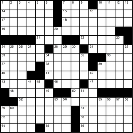 024: Themeless Puzzle 4, Off They Go