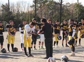 アメリカンフットボール部第1回OB戦を開催しました。